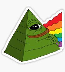 Illuminati Pepe Sticker