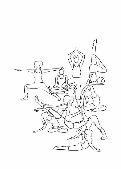 Yoga Asanas Dessin Posters Par Xooxoo Redbubble