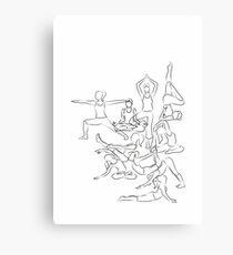 Yoga Asanas - drawing Canvas Print