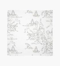 Yoga Asanas - drawing Scarf