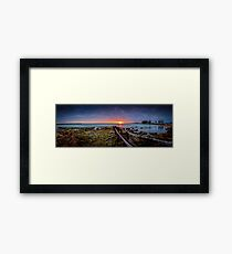Robe Town sunrise Framed Print