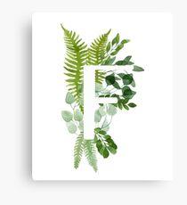 Floral letter F Canvas Print