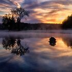 Early One  Morning at the Pond by Kathy Weaver