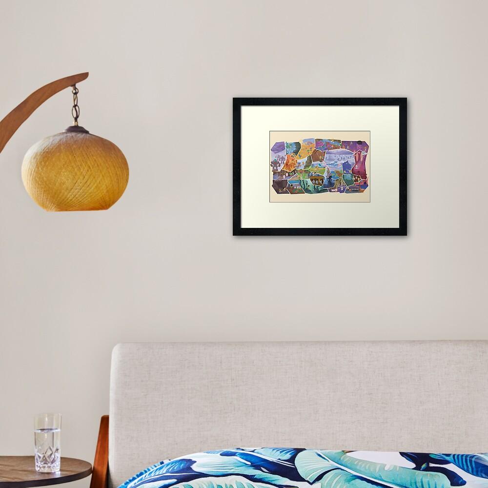 FFVI Fresco Part1  Framed Art Print