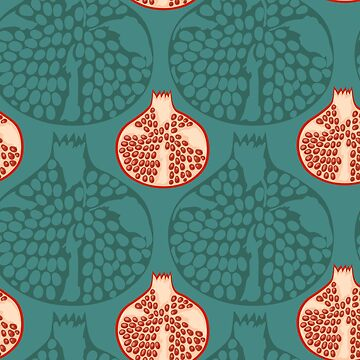 Hand draw pomegranate pattern  by kostochka