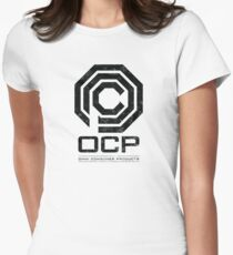 Robocop - OCP Omni Consumer Products Distressed Variant Womens Fitted T-Shirt