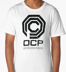 Robocop - OCP Omni Consumer Products Distressed Variant Long T-Shirt