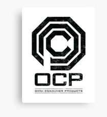 Robocop - OCP Omni Consumer Products Distressed Variant Canvas Print