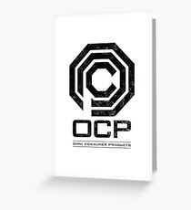 Robocop - OCP Omni Consumer Products Distressed Variant Greeting Card