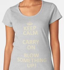 Keep Calm, Destroy! Women's Premium T-Shirt