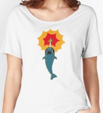 Pizza Narwhal Women's Relaxed Fit T-Shirt