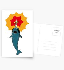 Pizza Narwhal Postcards