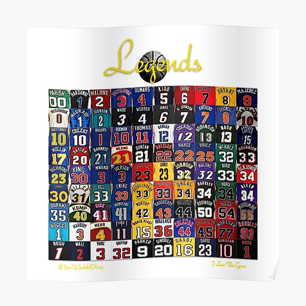 Basketball Legends Poster