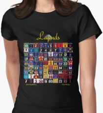 Basketball Legends Women's Fitted T-Shirt