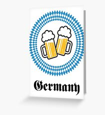 Germany 2 Beer (Munich Bavaria) Greeting Card