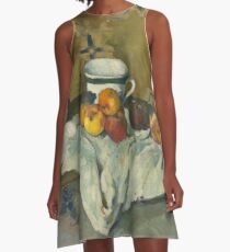 Still Life with Jar, Cup, and Apples A-Line Dress