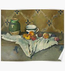 Still Life with Jar, Cup, and Apples Poster