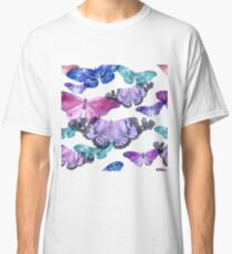 Watercolor butterflies pattern Classic T-Shirt