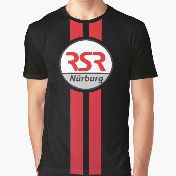 RSRNürburg Classic Logo - Red Stripes Graphic T-Shirt