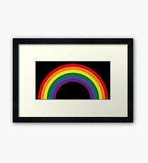 Rainbow / Arc-En-Ciel / Arcoíris / Regenbogen (6 Colors) Framed Print
