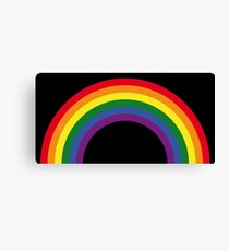 Rainbow / Arc-En-Ciel / Arcoíris / Regenbogen (6 Colors) Canvas Print