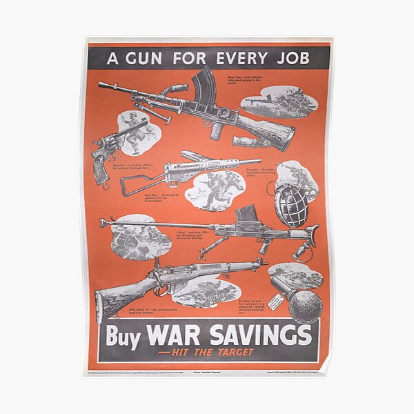 Reprint of British wartime poster. Poster