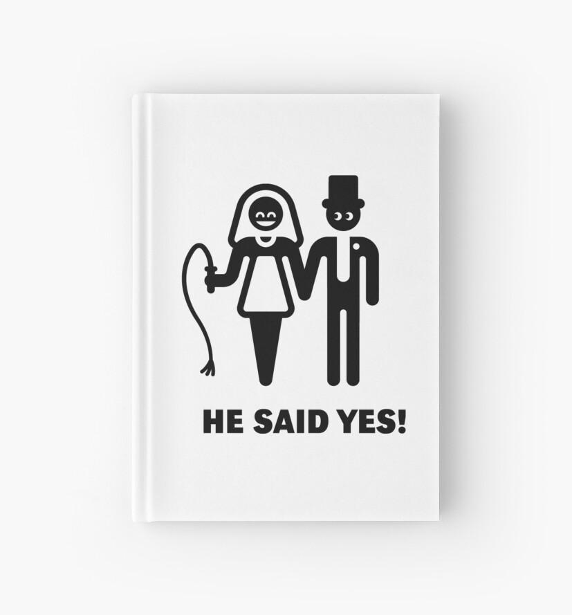 Cuadernos de tapa dura «¡El dijo que sí! (Votos de boda / Novia ...