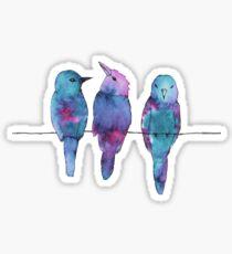 Three birds on a wire Sticker