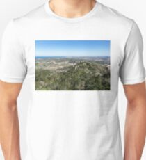 Of Castles and Vistas - an Aerial View of Moors Castle at Sintra Portugal Unisex T-Shirt