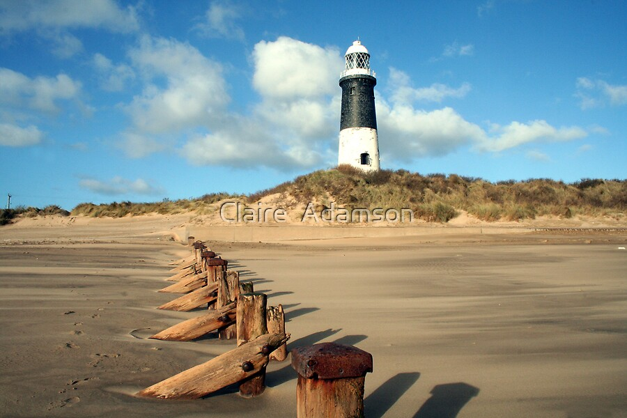 Spurn point Light House by Claire  Adamson