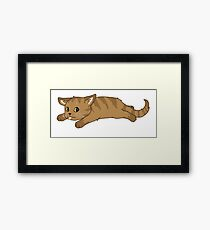 Tired Kitten Framed Print