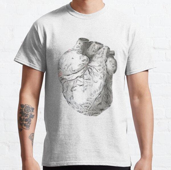 Grey Swirled Heart Classic T-Shirt