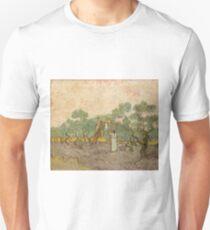 Women Picking Olives Vincent van Gogh Unisex T-Shirt