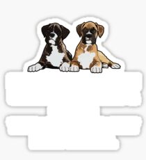 Boxer Dog Funny Design - Silence Is Golden Unless You Have A Boxer Then Silence Is Just Suspicious  Sticker