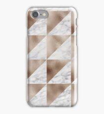Taupe rose geo triangular modern design iPhone Case/Skin