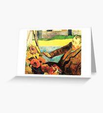 Portrait of Van Gogh by Paul Gauguin Greeting Card