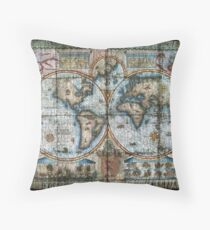 Ancient World Map by tony fernandes Throw Pillow