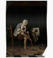 Jan Steen - Woman At Her Toilet, 1660 Poster