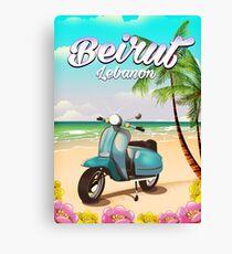 Beirut Lebanon vacation poster Canvas Print