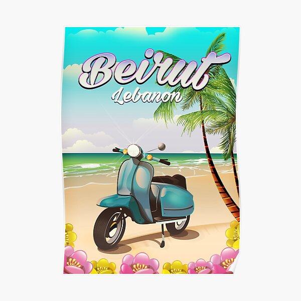 Beirut Lebanon vacation poster Poster