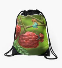 Raspberry Drawstring Bag