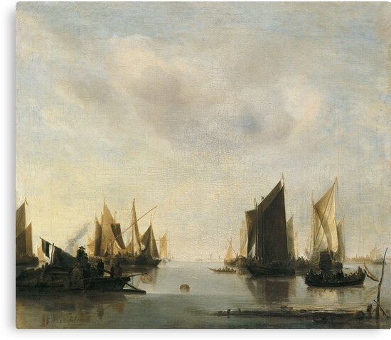 Jan Van De Cappelle - Coast Scene With Sailing Vessels by artcenter