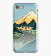 Hokusai, Thirty six Views of Mount Fuji, no. 42, 6th additional woodcut. Japan, Japanese, Wood block, print iPhone Case/Skin