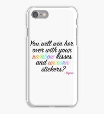Rainbow and unicorn part 2 with Regina iPhone Case/Skin