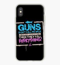 Guns Don't Kill People iPhone Case