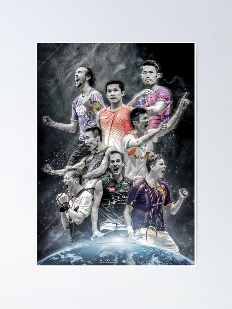 Alternate view of Badminton Legends Edit Poster
