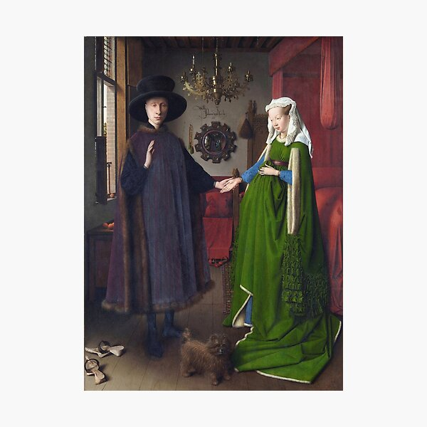 Jan Van Eyck - Giovanni Arnolfini And His Bride (The Arnolfini Marriage) Photographic Print