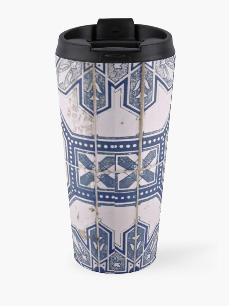 Alternate view of azulejos tiles Travel Mug