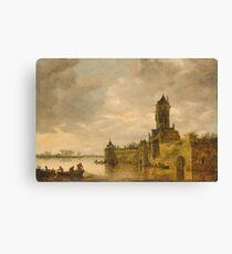 Jan Van Goyen - Castle By A River Canvas Print