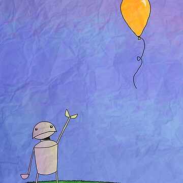 Sad Robot - The Balloon by krisbicknell